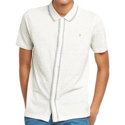 Clothing short-sleeved polo shirts Farah Homerton Pique Polo Shirt Off White
