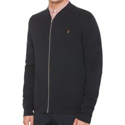 Clothing Jackets / Cardigans Farah Usher Milano Bomber Zip Knit Navy