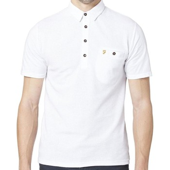 Clothing short-sleeved polo shirts Farah Lester Short Sleeve Polo Shirt White