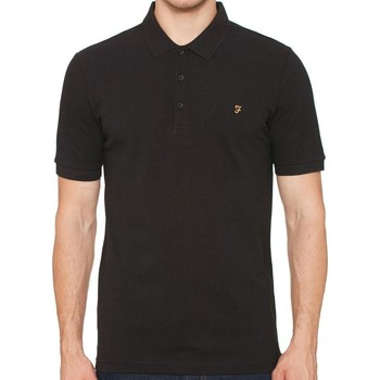 Clothing short-sleeved polo shirts Farah Blaney Short Sleeve Polo Shirt Black