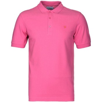Clothing short-sleeved polo shirts Farah Blaney Short Sleeve Polo Shirt Pink