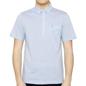 Clothing short-sleeved polo shirts Farah Tennyson Short Sleeve Polo Shirt Blue