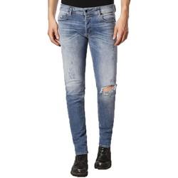 Clothing slim jeans Diesel Sleenker 084GL Distressed Skinny Jeans Blue