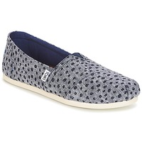 Shoes Women Slip ons Toms Alpargata Navy / Dots