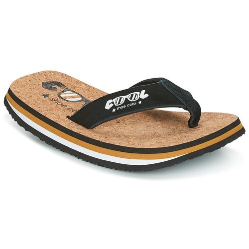 Shoes Men Flip flops Cool shoe ORIGINAL Black / Camel