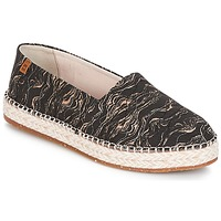 Shoes Women Espadrilles El Naturalista SEAWEED CANVAS Black / Grey