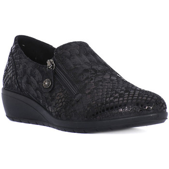 Shoes Women Loafers Enval SNAKE NERO Nero