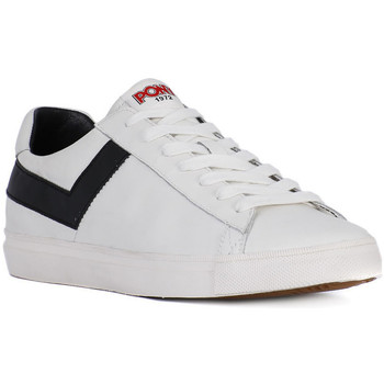 Shoes Men Low top trainers Pony TOPSTAR OX WHITE BLACK    122,6