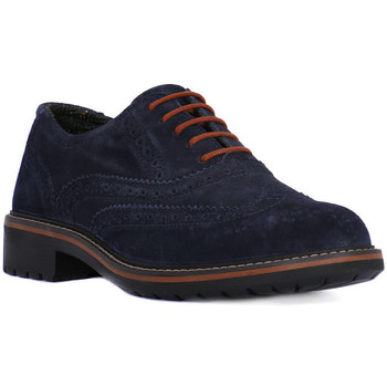 Shoes Men Derby Shoes Igi&co BRUSH BLU Blu