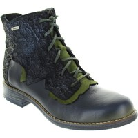 Shoes Women Ankle boots Maciejka Camber Black/Green Leather