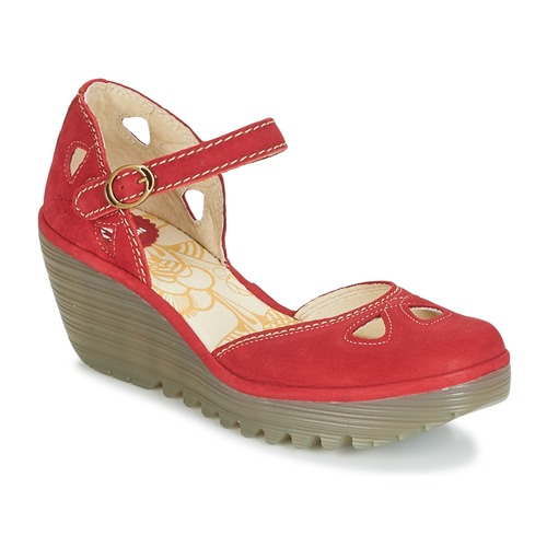 Shoes Women Heels Fly London YUNA Red