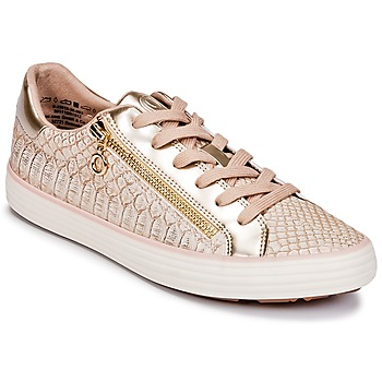 Shoes Women Low top trainers S.Oliver BOOMBO Pink / Gold