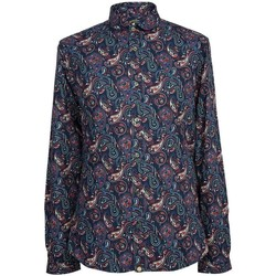 Clothing Women Shirts Pretty Green Sefton Paisley Shirt Navy