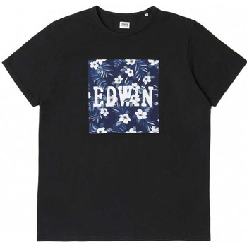 Clothing Women short-sleeved t-shirts Edwin Jeans Hibiscus Regular Fit T-Shirt Black