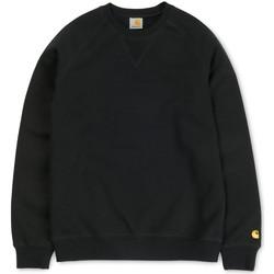 Clothing Women sweaters Carhartt WIP Chase Crewneck Sweatshirt Black