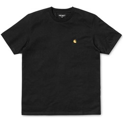 Clothing Women short-sleeved t-shirts Carhartt WIP S/S Chase T-Shirt Black/Gold