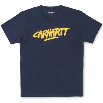 Clothing Women short-sleeved t-shirts Carhartt WIP S/S Painted Script Short Sleeve T-Shirt Navy