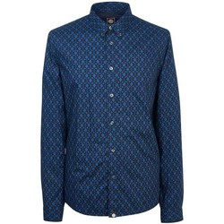 Clothing Women Shirts Pretty Green Abbott Aop Shirt Navy
