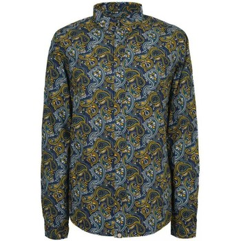 Clothing Women long-sleeved shirts Pretty Green Mens Stretford Aop Ls Navy