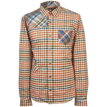 Clothing Women long-sleeved shirts Pretty Green Mens Kidnall Check Shirt Orange
