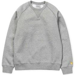 Clothing Women sweaters Carhartt WIP Chase Sweatshirt Jumper Grey