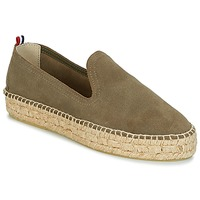 Shoes Women Espadrilles 1789 Cala SLIP ON DOUBLE LEATHER Kaki