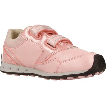 Shoes Girl Low top trainers Geox J N.JOCKER G.A con luces Pink