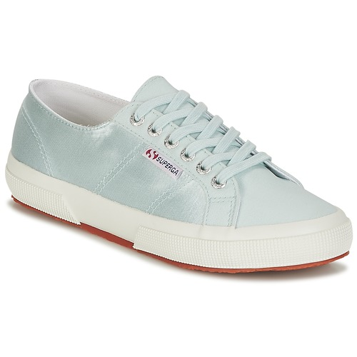 Shoes Women Low top trainers Superga 2750 SATIN W Blue / Silver