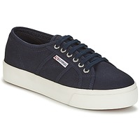 Shoes Women Low top trainers Superga 2730 COTU Marine / White