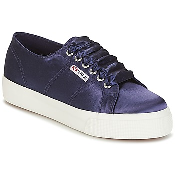 Shoes Women Low top trainers Superga 2730 SATIN W Marine