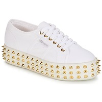 Shoes Women Low top trainers Superga 2790 STUDS COT W GERALDINA White / Gold