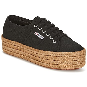 Shoes Women Low top trainers Superga 2790 COTROPE W Black