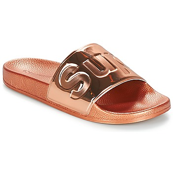 Shoes Women Mules Superga 1908 PUNE TU Pink / Gold