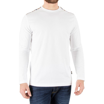 Clothing Men Long sleeved tee-shirts Aquascutum Men's Southport Longsleeved T-Shirt, White white