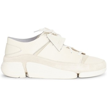 Shoes Men Low top trainers Clarks Leather Trigenic Evo Trainers White