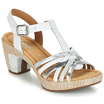 Shoes Women Sandals Gabor MASTIAR White / Silver