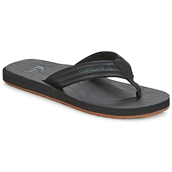 Shoes Men Flip flops Quiksilver CARVER NUBUCK M SNDL SBKM Black