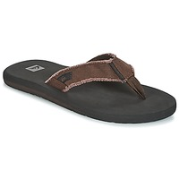Shoes Men Flip flops Quiksilver MONKEY ABYSS M SNDL CTK1 Black / Brown
