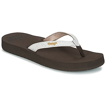 Shoes Women Flip flops Reef STAR CUSHION SASSY Brown / White