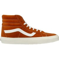 Shoes Men Hi top trainers Vans UA SK8 HI REISSUE Brown