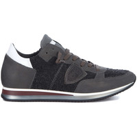 Shoes Men Low top trainers Philippe Model Paris Tropez Sneaker in grey and bouclè leather Grey