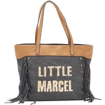 Bags Women Shopping Bags / Baskets Little Marcel Sac Shopping Victoire Noir VI 01 Black