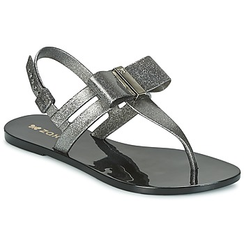 Shoes Women Sandals Zaxy GLAZE SAND AD Silver / Black