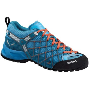 Shoes Women Low top trainers Salewa Wildfire Vent Womens Black-Blue-Orange