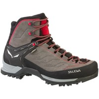 Shoes Men Walking shoes Salewa Mountain Trainer Mid Gtx Red-Black-Brown