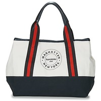 Bags Women Shopping Bags / Baskets Superdry BAYSHORE BEACH TOTE White / Marine / Red