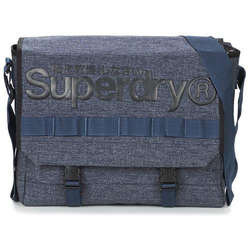 Bags Messenger bags Superdry MERCHANT MESSENGER BAG Marine
