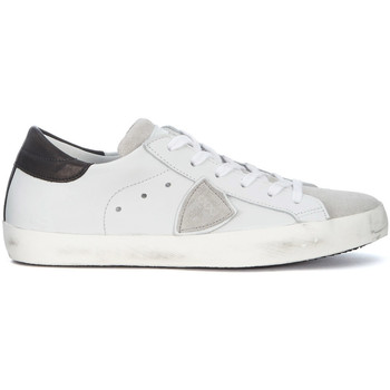 Shoes Men Low top trainers Philippe Model Paris Paris white leather and grey suede sneaker White