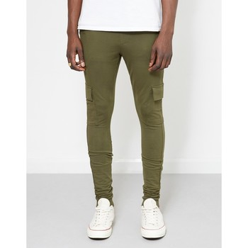 Clothing Men Tracksuit bottoms The Idle Man Cargo Jogger Green Green