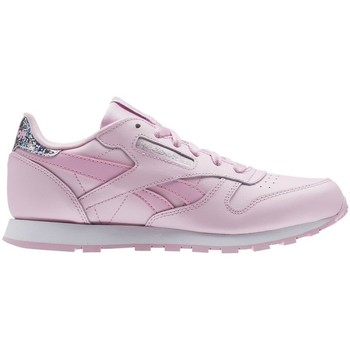 Shoes Children Low top trainers Reebok Sport Classic Leather Pastel White